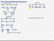 algebra worksheets multi step equations 8494 more solving multi step equations