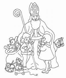 Ausmalbilder Bischof Nikolaus Coloring Page Nicholas Day Mit Bildern St
