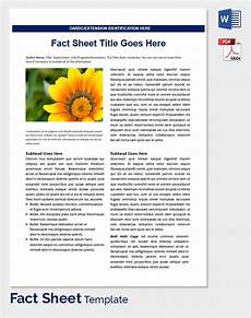 sle fact sheet template 14 free download documents in pdf word