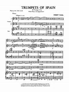 trumpets of spain trumpet trio by ro j w pepper sheet music