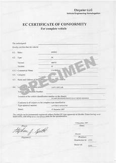 certificat de conformité européen gratuit certificat de conformit 233 dodge coc dodge