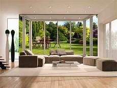 poster tapisserie geant paysage trompe l œil effet 3d jardin ensoleill 233