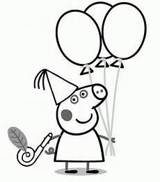 Kostenlose Malvorlagen Peppa Wutz Peppa Pig Birthday Coloring Page Geburtstag Malvorlagen