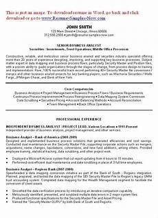 business analyst resume exles objectives you have to