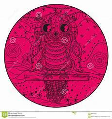 Ausmalbilder Eule Mit Buch Mandala Mit Eule Vektor Abbildung Illustration Buch
