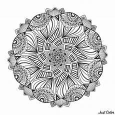ornamental floral mandala mandalas coloring pages