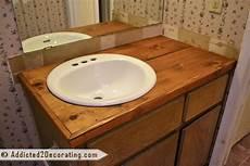 diy bathroom countertop ideas bathroom makeover day 2 my 35 diy wood countertop