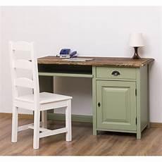 Schreibtisch Mit Tastaturauszug Im Landhausstil Moebro
