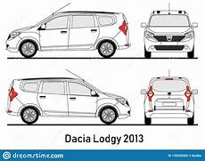 Dacia Lodgy Abmessungen - dacia lodgy 2013 blueprint illustration stock vector