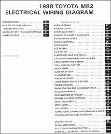 1988 toyota mr2 wiring diagram manual original 1988 toyota mr2 wiring diagram manual original
