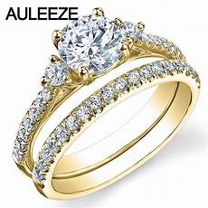 three stone lab grown diamond ring 1ct moissanites bridal