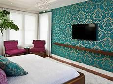 tapete blau schlafzimmer photos hgtv