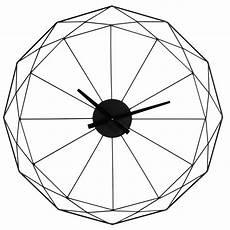 wanduhr origami aus metall d 80 cm schwarz maisons du