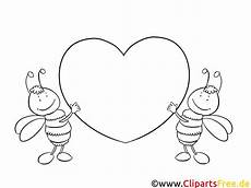 Zahlen Malvorlagen Herz Bienchen Mit Herz Bilder Zum Ausmalen