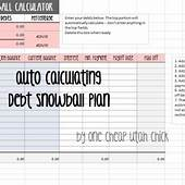 How To Create A Debt Snowball Plan {Snowball Excel