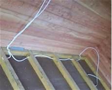 kabel verlegen elektroinstallation im gartenhaus