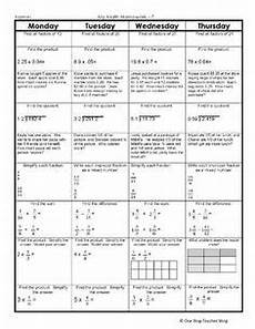 4th grade homework sheets weekly homework sheet 4th grade week 3 math worksheets kids math
