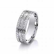 diamond cut wedding rings 6mm 9ct white gold diamond cut effect patterned wedding