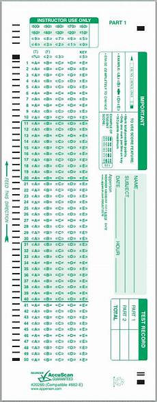 scantron compatible test answer forms
