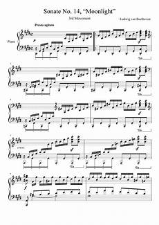 moonlight sonata 3rd movement sheet music for piano download free in pdf or midi