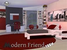 chambre ado garçon moderne modern friend bedroom at jomsims creations 187 sims 4 updates