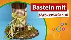 Basteln Mit Naturmaterialien Blumenvase Gestalten