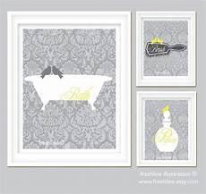 Etsy Yellow And Gray Bathroom by Yellow And Gray Bathroom Set Bird On Bathtub Brush