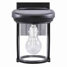 gama sonic solar coach light 7 5 in h black solar led