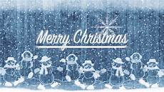 merry christmas title background snow men and winter snow frozen holidays motion background