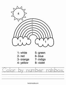 colors of the rainbow worksheets 12805 color by number rainbow worksheet twisty noodle