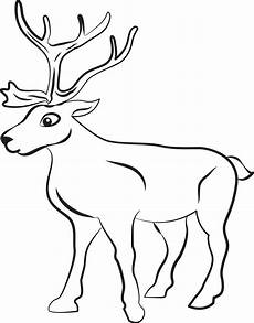free printable reindeer coloring page for 1 supplyme