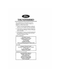 service repair manual free download 1996 ford thunderbird parking system 1996 ford thunderbird manuals