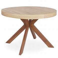 table ronde extensible quot zefane quot 160 260cm naturel