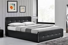 cadre de lit avec coffre cadre de lit design capitonn 233 noir avec coffre 140