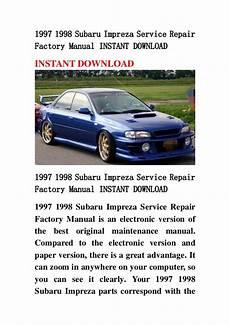 download car manuals 1995 subaru impreza auto manual 1997 1998 subaru impreza service repair factory manual instant downlo