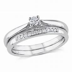 miadora sterling silver 1 6ct tdw diamond bridal ring