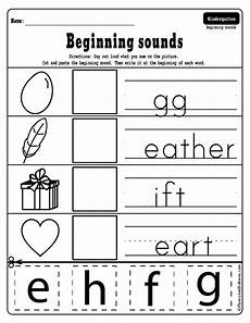 beginning sounds cut and paste worksheets free printable