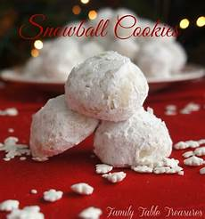 snowball cookies family table treasures