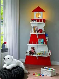 kinderzimmer deko wand toom kreativwerkstatt kinderregal leuchtturm deko