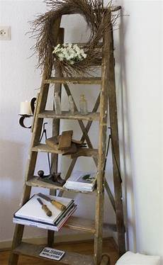 How To Decorate With Ladders Three Styles