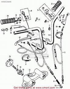 honda ct 70 k3 clutch assembly diagram honda ct70h trail 70h 1970 ct70hk0 usa handlebar buy handlebar spares