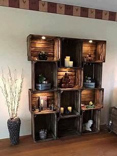 bücherregal aus weinkisten regal ideen wohnzimmer
