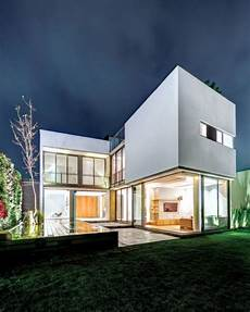 haus in l form modern l shaped residential building when merging indoor