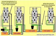 Wiring Diagram For A Series Of Receptacles Installing