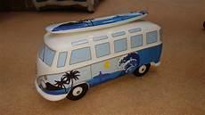 vw t1 bulli samba spardose mit surfbrett