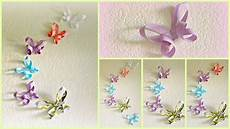 diy room decor 3d paper butterflies