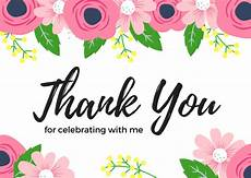thank you card template for comming to event birthday thank you card wording exles