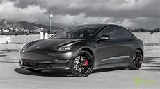 tesla model 3 black performance tesla model 3 customized with all satin black