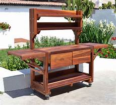 spieltisch selber bauen redwood potting bench custom outdoor wood bench