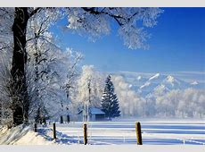 nature house winter snow sky landscape white beautiful